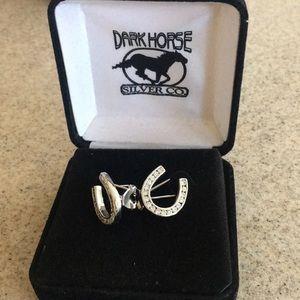 Dark Horse Silver Co. horseshoe earrings